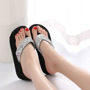 Women Shoes Slipper Flip-Flops Flat-Sandals Beach-Flip Summer Indoor Casual Sequins
