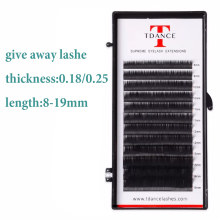 TDANCE eyelash extension thickness 0.18/0.25 lashes maquiagem cilios for professionals soft mink Faux mink individual eyelash