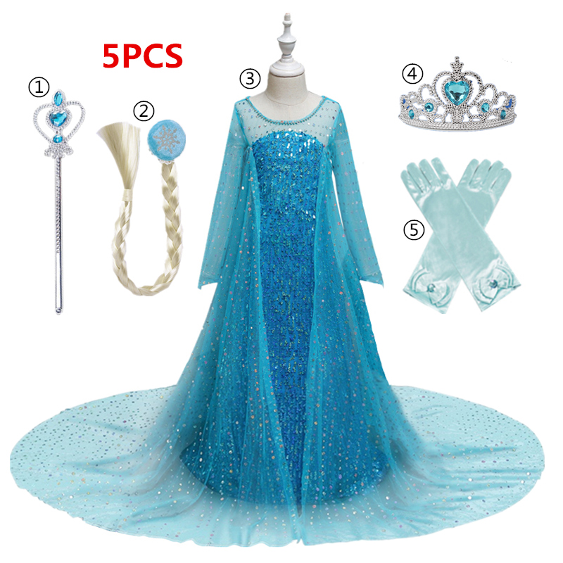 Dress for Girls Kids Christmas Dress Halloween Cosplay Costume Children Birthday Party