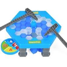Quebra-cabeça de pinguim para crianças, jogo de quebra-cabeça quebra-cabeça contra o gelo, martelo, clássico, festa, brinquedo, pinguim, armadilha, interativo, divertido, imperdível jogo jogo tabuleiro