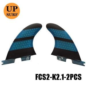 Image 2 - Surf Fcs 2 K2.1 Rear Fin Geel Glasvezel Quilhas Fcs Ii K2.1 Achter Vinnen Surf Board Quilhas Vinnen Fcsii Vinnen in Surfen
