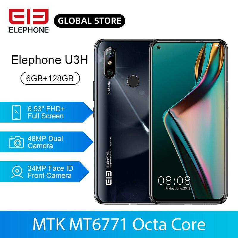 In Stock ELEPHONE U3H 6GB 128GB Helio P70 Octa Core Mobile Phone Wireless Charging 6.53