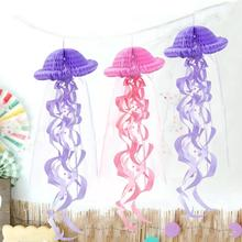 1pc Honeycomb Jellyfish Pendant Mermaid Party Decoration Baby Shower Paper Ornament Birthday Decor Supplies