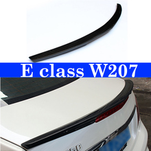 Gloss Black Carbon Spoilers Wing Lip For Mercedes E Class W207 Spoiler 2010 - 2016