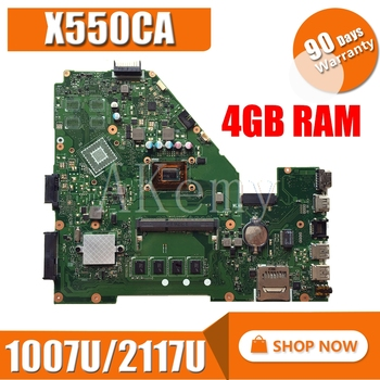 SAMXINNO X550CC Laptop motherboard for ASUS X550CA X550CL R510C Y581C X550C A550C original mainboard 4GB-RAM 1007U/2117U CPU