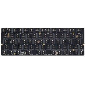 Image 4 - 뜨거운 swappable gk64 gk64x pcb 주문 기계적인 키보드 rgb smd 스위치 leds 유형 c usb 항구는 대부분의 gh60 나무로되는 cnc 상자를 일치시킬 수있다