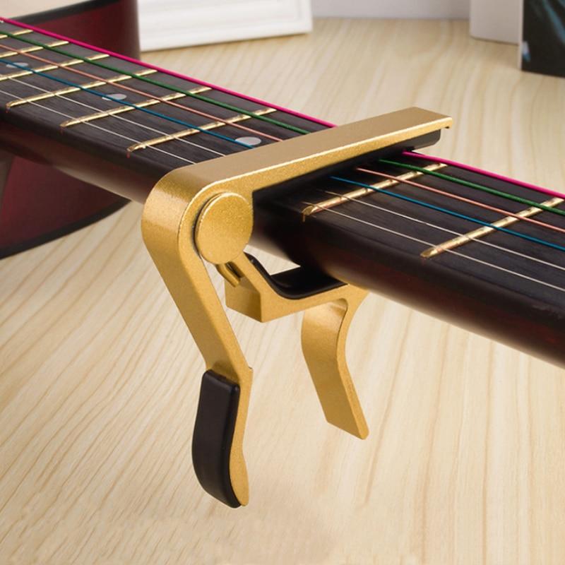 High Quality Aluminium Alloy Guitar Capo Guitar Accessories Quick Change Clamp Key Acoustic Classic Tone Adjusting