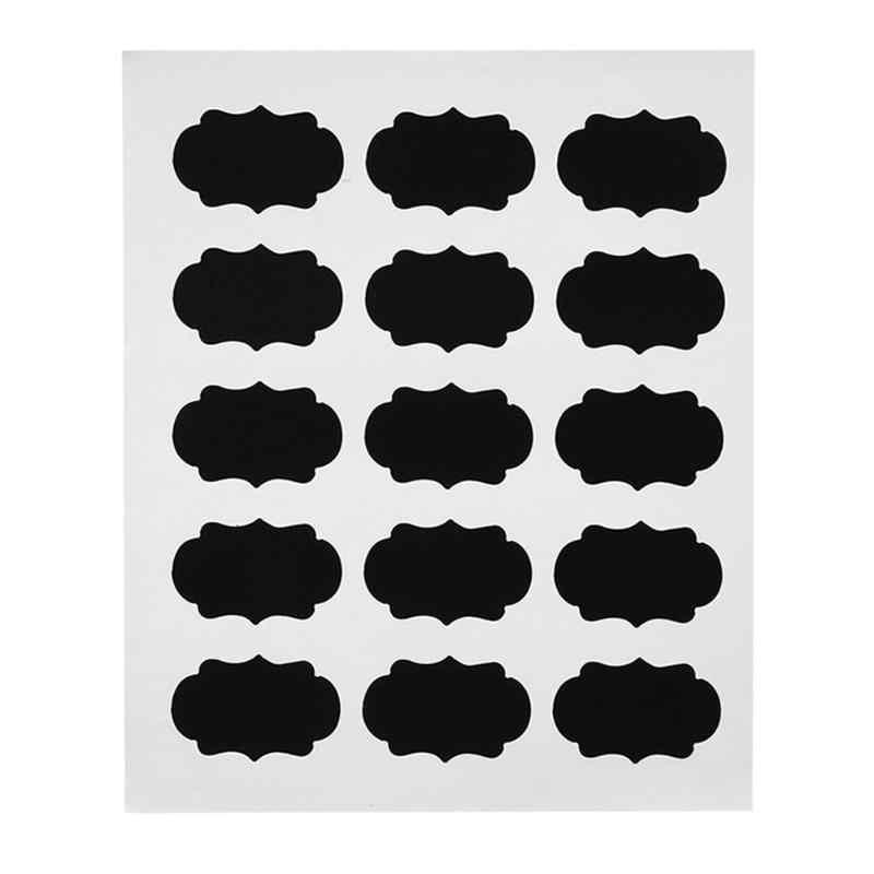 15 шт. съемные водонепроницаемые Стикеры для доски этикетки стеклянные банки