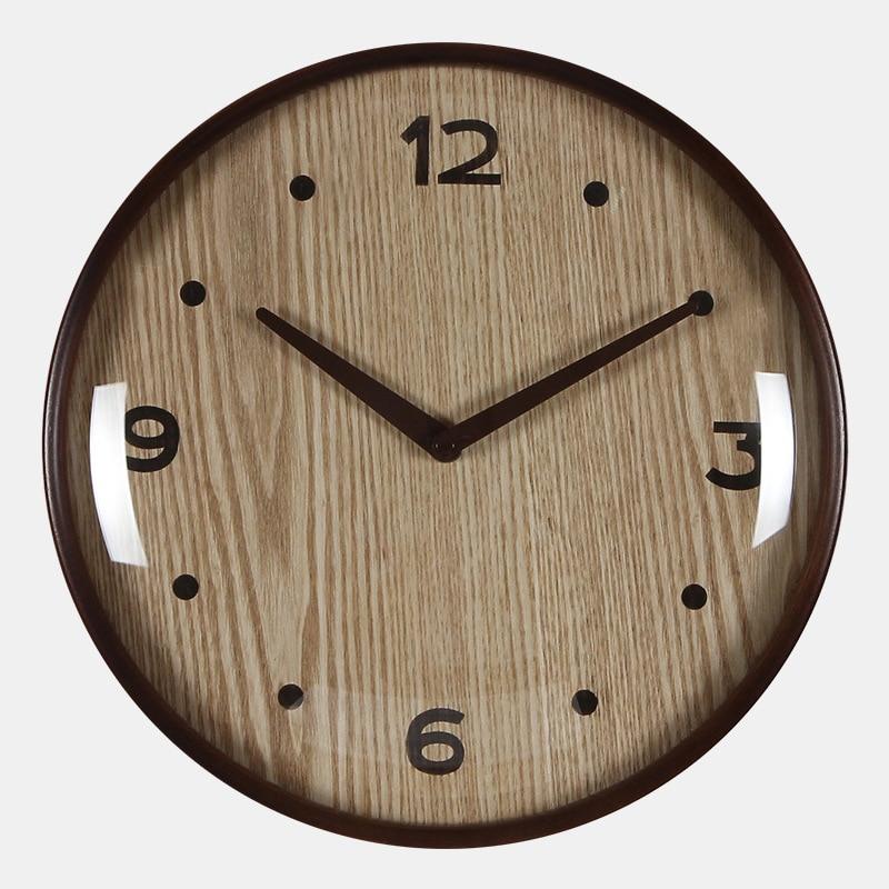 Японские корейские деревянные настенные часы с Луной выпуклой стеклянной изогнутой рамкой часы Современный дизайн лучшие продажи 2018 проду