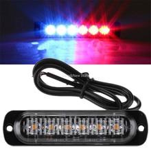 Lámpara estroboscópica de 12V y 24V para motocicleta, luz de emergencia ultrafina con Flash de advertencia