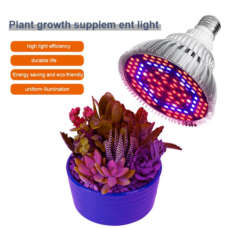 18W 30W 50W 80W E27 Full Spectrum Led Grow Light Growing Lamp For Hydroponics Flowers Plants Vegetables AC85-265V Red Blue