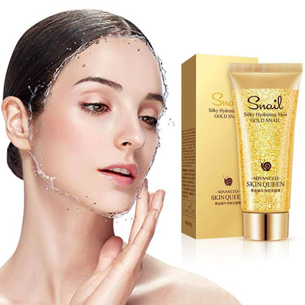Gold Snail Cleanser Moisturizing Cleaning Pores For Sensitive Skin Face Oil Product Blackheads Control Remove Washin P4Y3 image