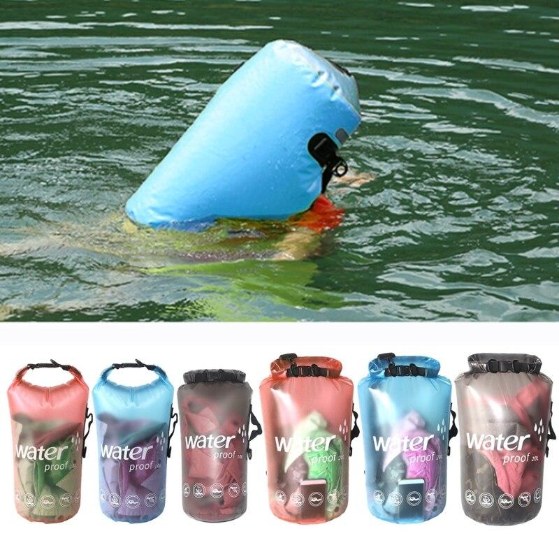 10/20L Waterproof Dry Bag Outdoor Swimming Kayaking Drifting Tool PVC Storage Case for Boating Floating Handbag