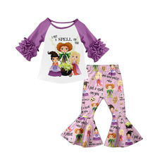 Children baby girl clothing outfits spell girl top with pants children kids boutique clothes