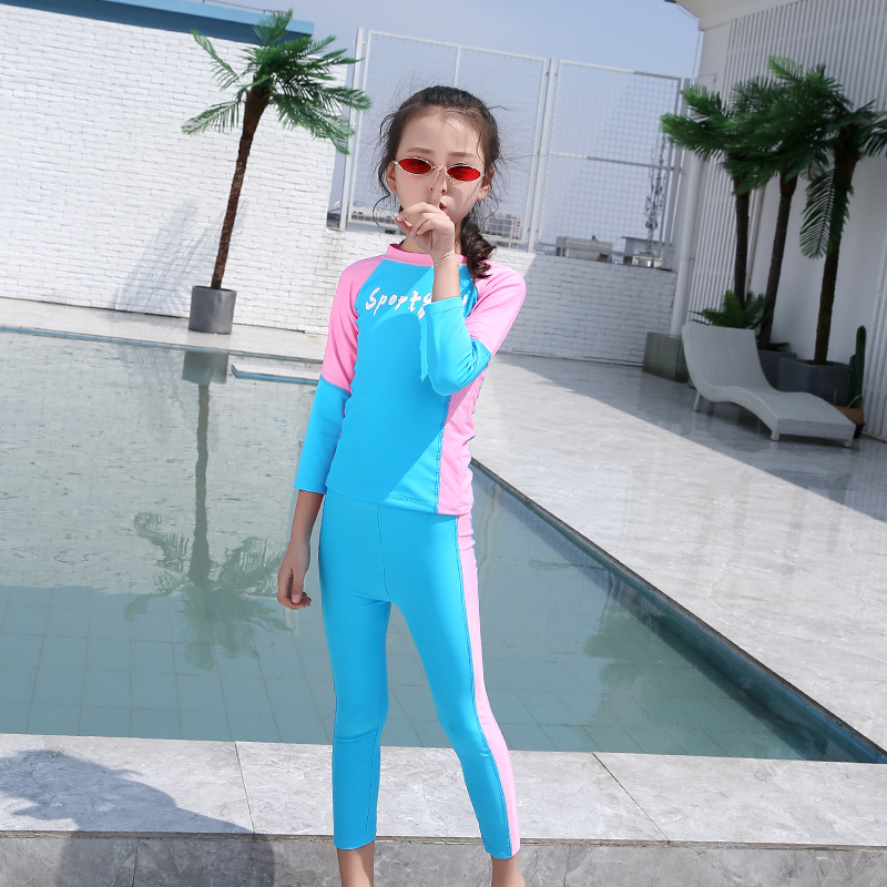 New Style Children Diving Suit Sun Protection Clothing Long Sleeve One-piece Girls BOY'S Universal Swimsuit Jellyfish Clothing S