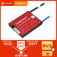Deligreen 10S 36V 15A 20A 30A 40A 50A 60A  PCM/PCB/BMS for 3.7V lithium battery pack 18650 Lithion LiNCM Li Polymer Scooter Battery Accessories     -