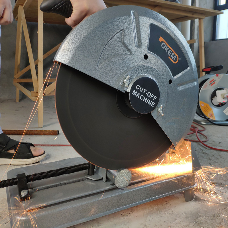 355 Profile Cutting Machine 14-inch Steel Machine 350 Grinding Wheel Metal Cutting Saw Electric Tool