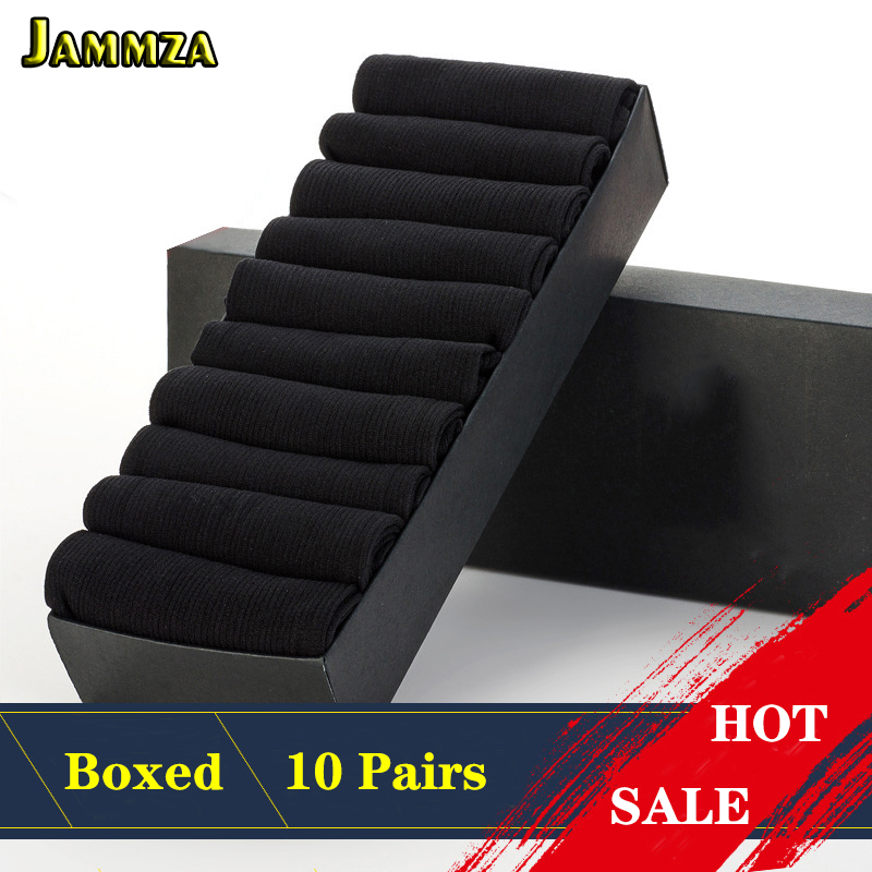 10Pairs/Set Men Socks For Spring Summer Ultra-thin Black White Solid Socks Business Breathable Socks For Man Gift Box