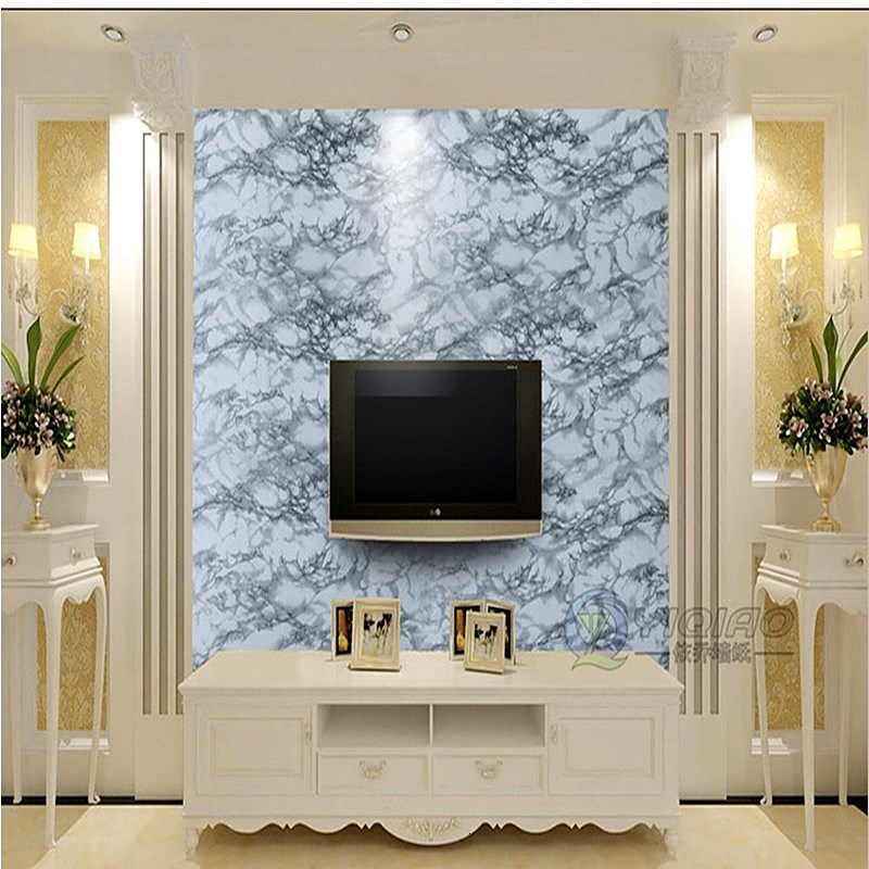 Self Adhesive Imitation Marble Pattern Sticker Wallpaper Living