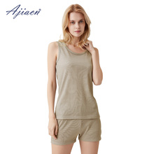 Genuine anti-electromagnetic radiation women's underwear vest set 5g communication EMF shielding silver fiber vests and boxers