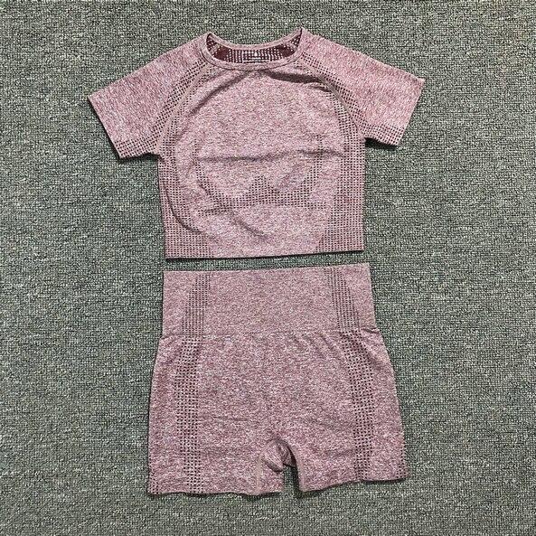 curta colheita topo camisas correndo shorts workout feminino conjunto ginásio