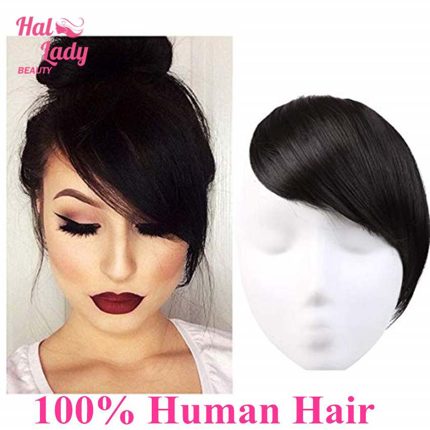 Halo Lady Beauty Clip In Hair Bangs Fringe Hair Extensions Full Sweeping Side Hairpiece Hair Piece Brazilian Non Remy Human Hair Hot Sale 8f8d6 Cicig
