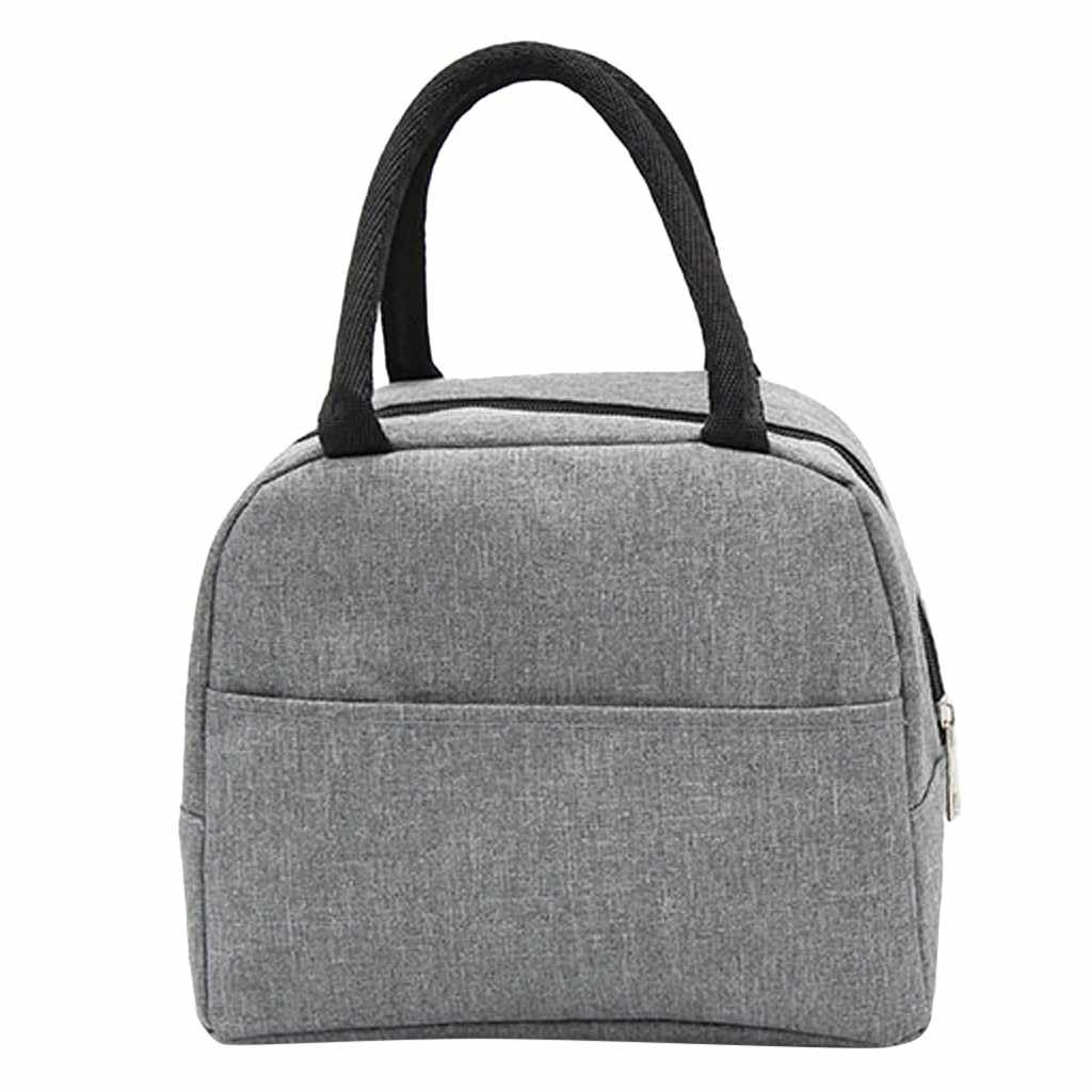 Portable Lunch Bag Thermal Insulated Lunch Box Tote Cooler Bag Bento Pouch Lunch Container School Food Storage Bags#50