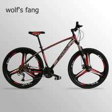 Wolfs fang Bicycle Mountain Bike Aluminum alloy 27 Speed 29 Inches Road bikes  bmx mtb snow Fat bike beach bicycles New Man