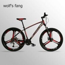 Wolf's fang bicicleta de montanha, bicicleta de liga de alumínio com 27 velocidades, bicicletas de estrada, bmx, mtb, bicicleta gorda e neve bicicletas novo homem