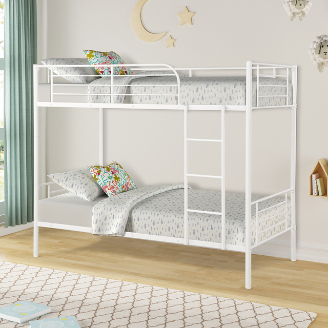 Twin Over Twin Loft Bunkbeds w/Metal Stairs 3
