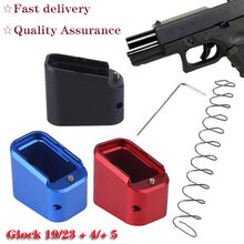 Magorui Tactical Mag Extension Base Pad Glock 19/23 +4/+5 With +10% Spring
