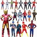 От 4 до 12 лет детский Супер костюм героя косплэй для мальчиков, карнавал, Хэллоуин для детей, костюм для вечеринки, детский щит и перчатка, шоу...