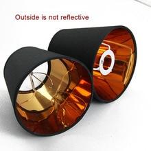 2PCS 현대 패션 블랙 골드 컬러 플라스틱 램프 그늘 커버, PVC lampshades, E14 및 클립에