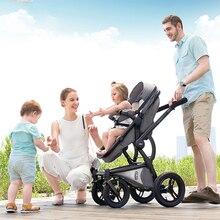 VIKI 2 in 1 High Landscape Baby Stroller Reversible Lightweight Stroller Portabl