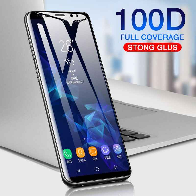 100D Full Curved Tempered Glass For Samsung Galaxy S8 S9 Plus Note 8 9 Screen Protector For Samsung S7 edge S8 Protective Film