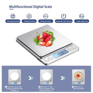 Image 5 - KUBEI قابلة للشحن ميزان المطبخ الرقمي ، 3 كجم 0.1 جرام/1 كجم 0.01 جرام ميزان المطبخ مقياس مجوهرات مع صينية متعددة الوظائف مقياس الطبخ