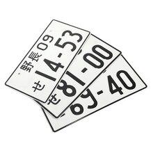 Jdm estilo japonês placa de licença de alumínio número de licença do carro decoração platefor carro universal