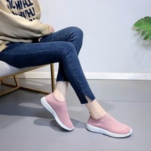 Women Shoes Flats Shoes Woman Stretch Fabric Fashion Loafers Sneakers Women Breathable Casual Slip-on Ladies Shoes Plus Size cootelili women sneakers platform casual shoes woman flats slip on letter loafers ladies black gray blue red plus size 40 41 42