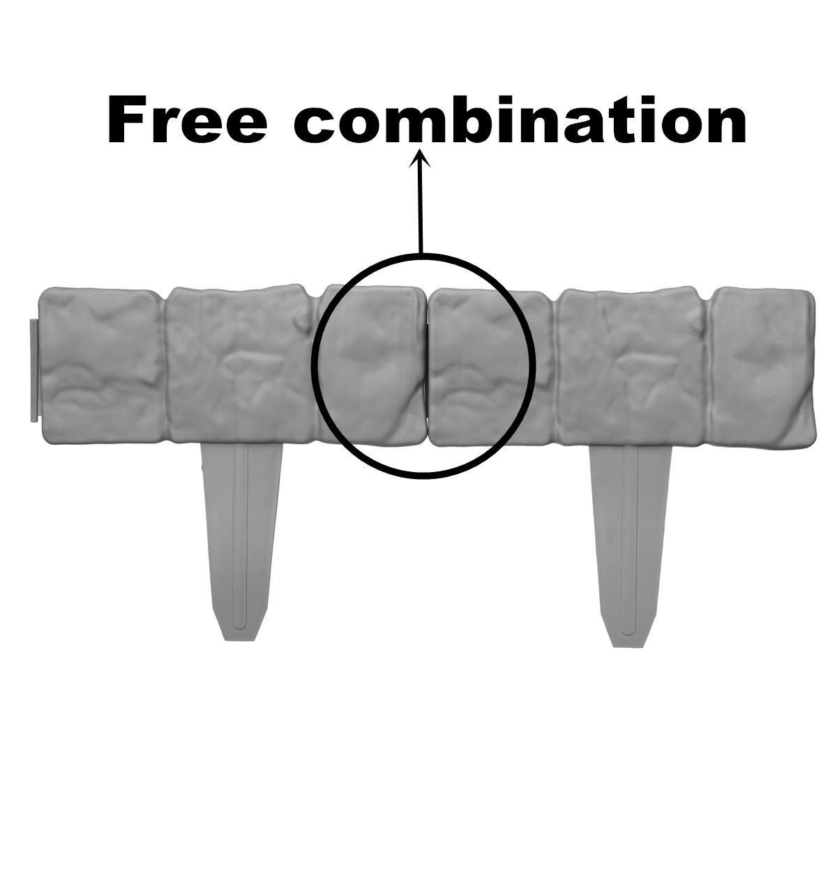 20PCS Imitation Stone Fence Gardening Grounding Fence Folding Garden Fence Borde