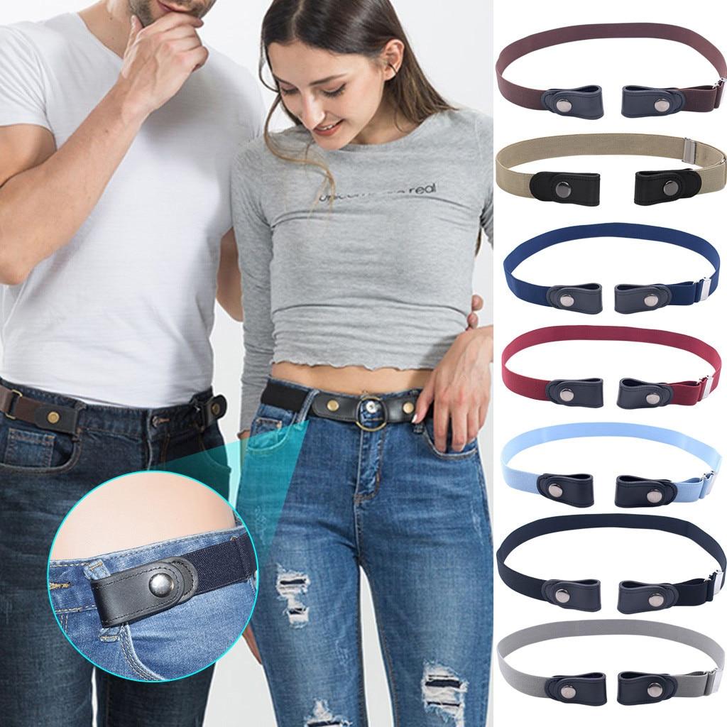 Пояс с пряжкой для джинсов, брюки, без пряжки, эластичный пояс для женщин/мужчин, без выпуклости, без хлопот, пояс # np30