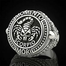 Материал для малышей с принтом «Скорпион» череп Для мужчин кольцо