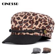 Модная хлопковая военная шапка для женщин осенняя винтажная