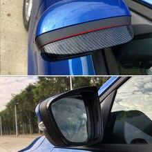 포드 MK4 2019 자동차 액세서리 2pcs 탄소 섬유 ABS 자동차 스티커 스타일링 백미러 블록 비 눈썹 커버 트림