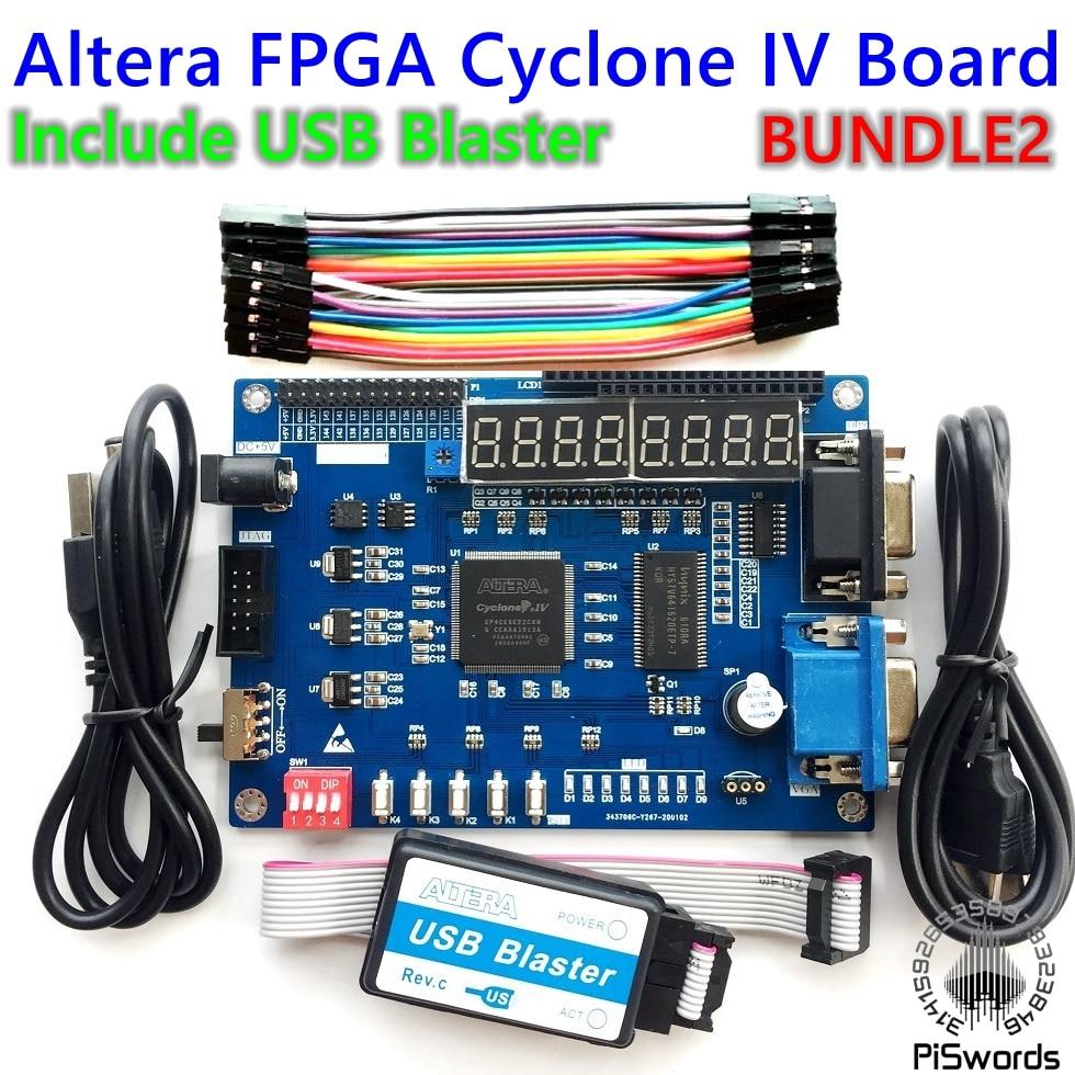 2020 Kit placa de Desenvolvimento Altera FPGA ALTERA Cyclone IV EP4CE6 EP4CE NIOSII FPGA Bordo e Blaster downloader USB