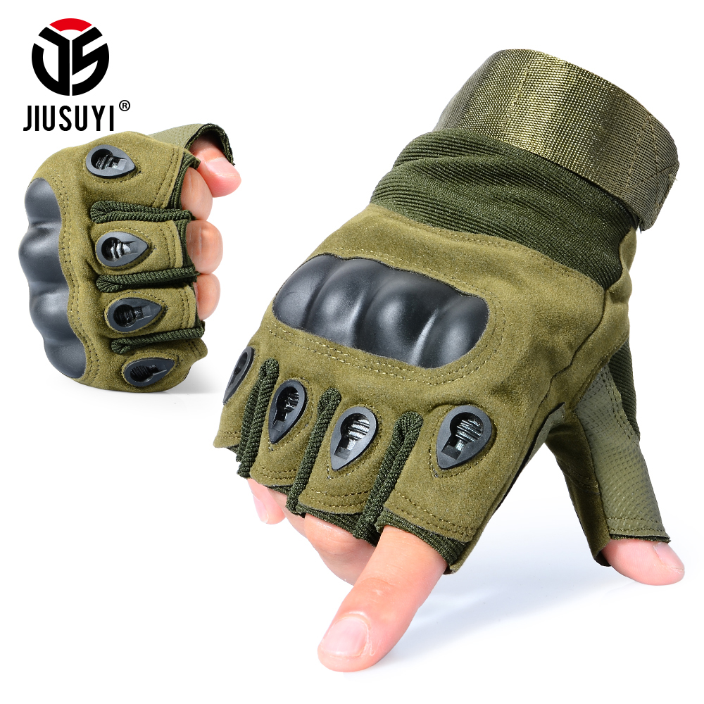 Tactical Army Military Fingerless Glove CS Airsoft Shooting Paintball Combat Driving Hard Knuckle Half Finger Gloves Men Women