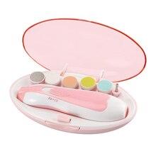 УФ-триммер для стрижки, набор, простое управление, полировщик для ногтей, для детей, бесшумный, безопасный, электрический, вращение на 360 °, многофункциональный, 2 цвета