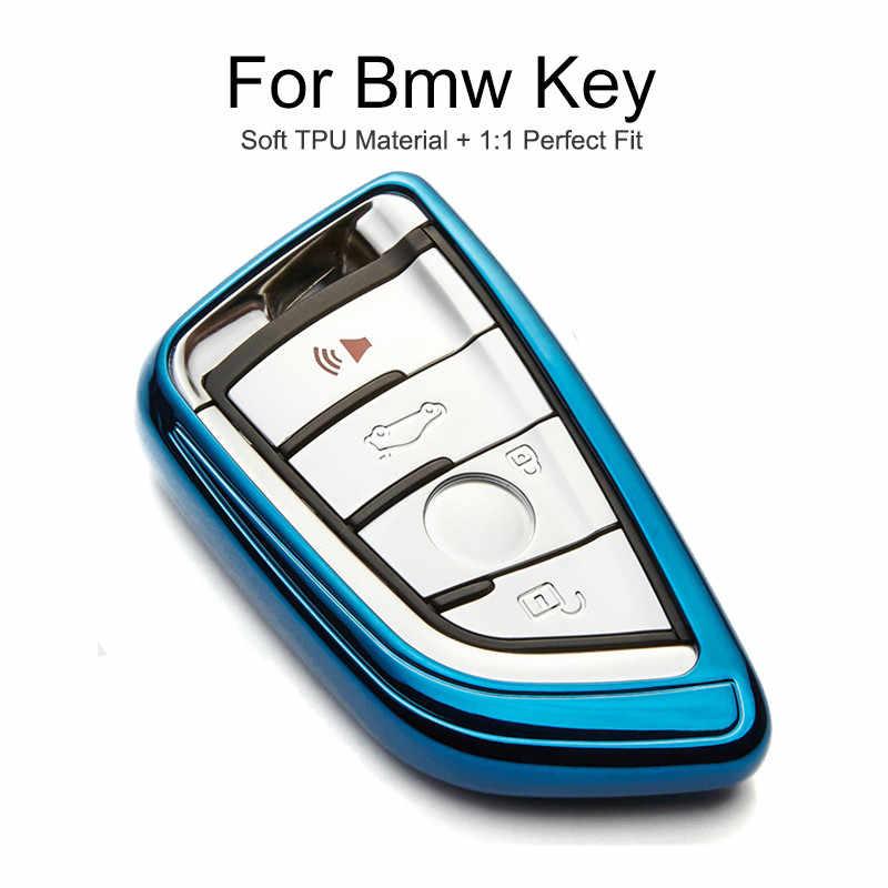 TPU حماية سيارة حقيبة غطاء للمفاتيح كاب ل Bmw X1 F48 X3 X5 F15 E70 X6 E71 F16 X4 F26 G30 F11 e90 Z3 مفتاح سلسلة حلقة اكسسوارات