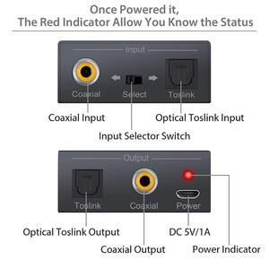 Image 3 - Coax Optical Toslink to Coax Optical audio Converter Adapter,Bi Directional  Switch with dc cable