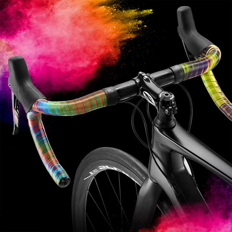 Road Bike Bar Tape Aurora Blue Color Change Drop Handlebar Bicycle HALO Leather