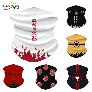 Naruto Printed Ice Silk Fabric Cycling Bike Bicycle Riding Scarf Variety Magic Headband Veil Scarves Face Mesh Bandanas Mask image